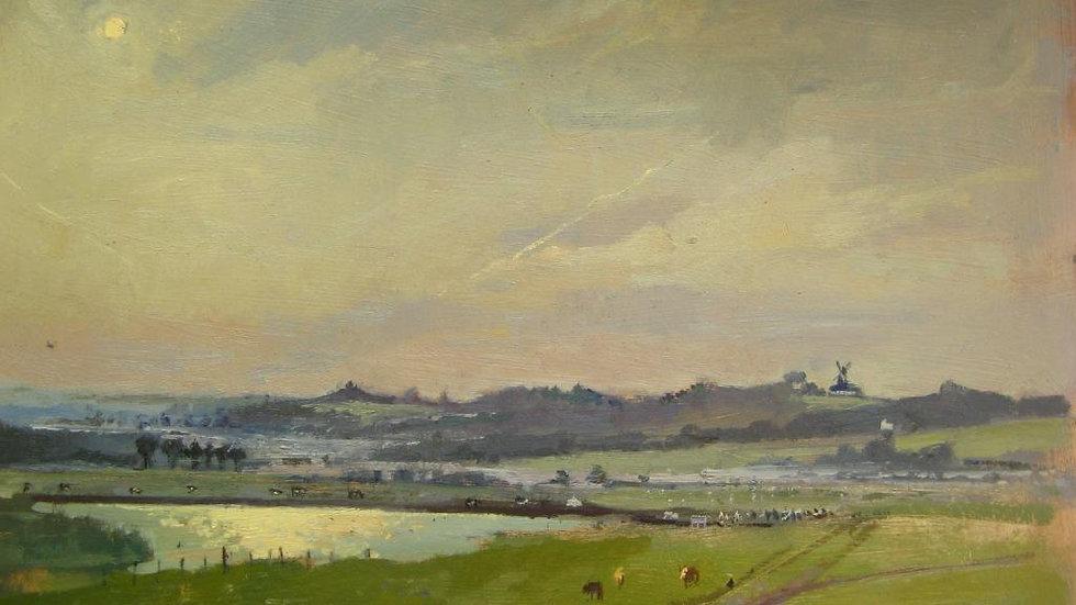 """""""Sunset Over Ickelsham Mill, England"""""""