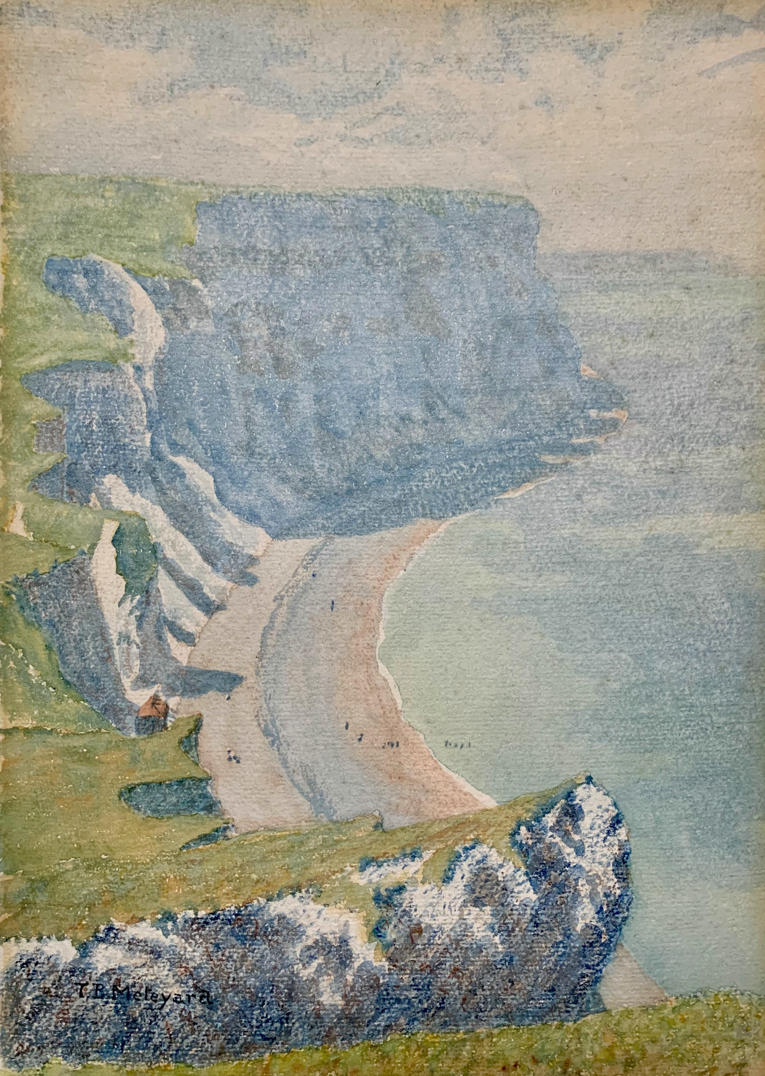 """Bruneval Beach from the Cliff"""