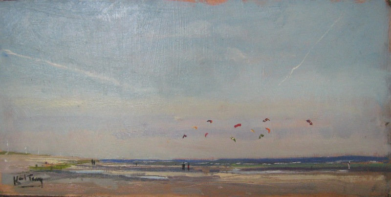 """Kite Flying Camber Beach"""