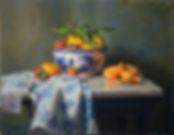 #11121 Delft Bowl with Mandarin Oranges