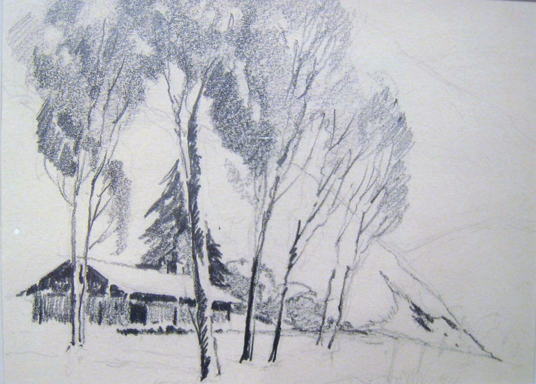"""""""Farmhouse in the Shade of a Tree"""""""