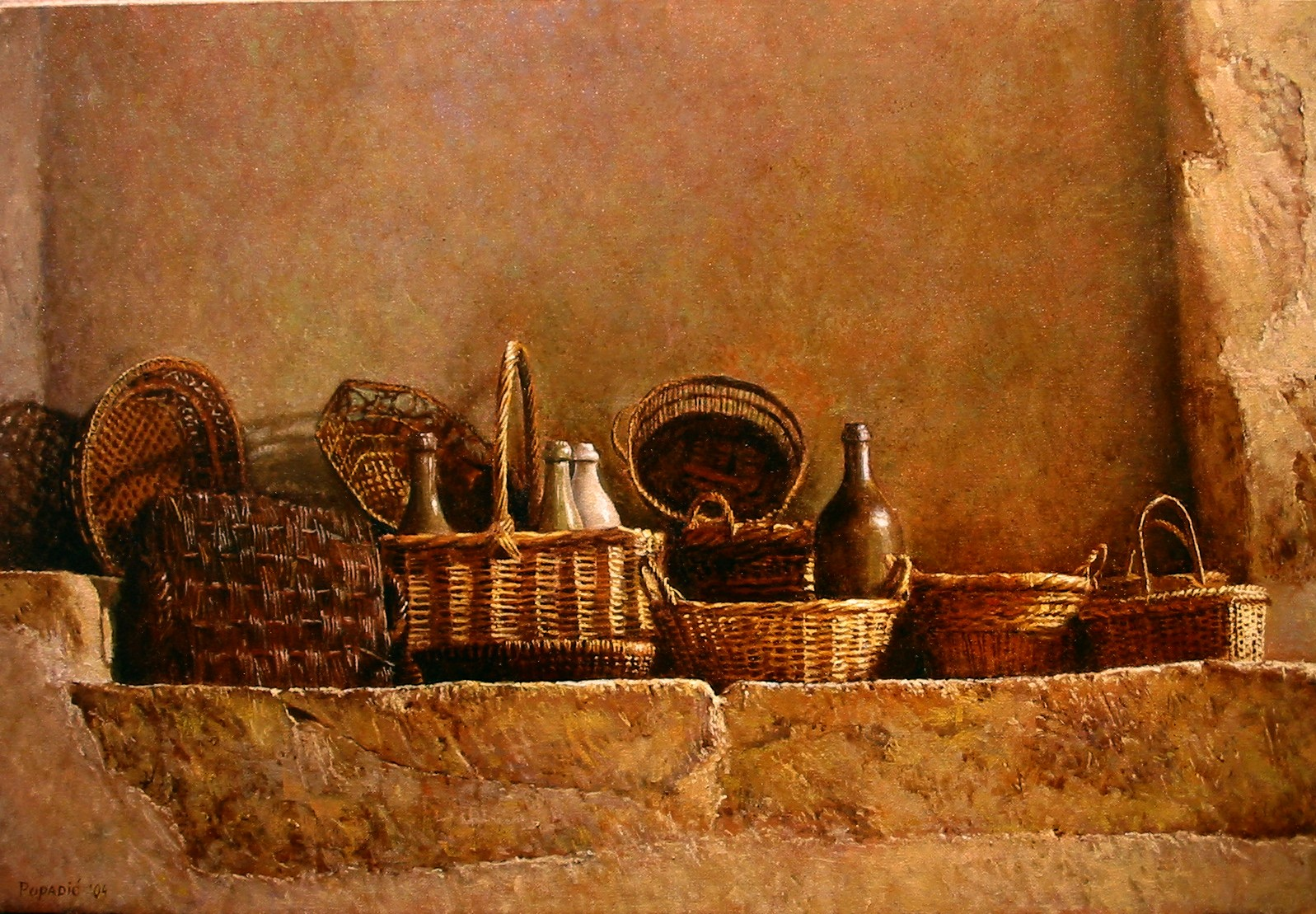 """""""First Offering-Baskets on Stone"""""""