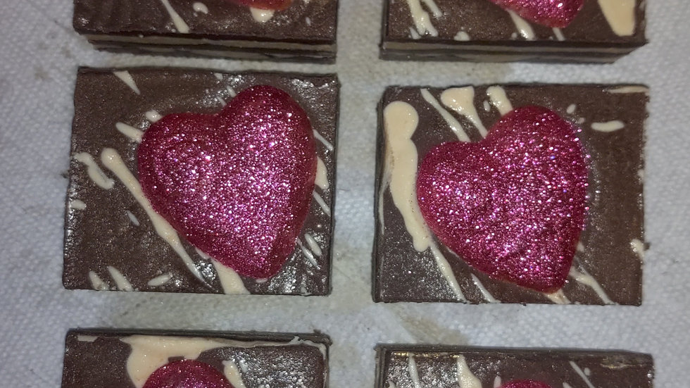 Chocolate toffe w/Chocolate mint heart