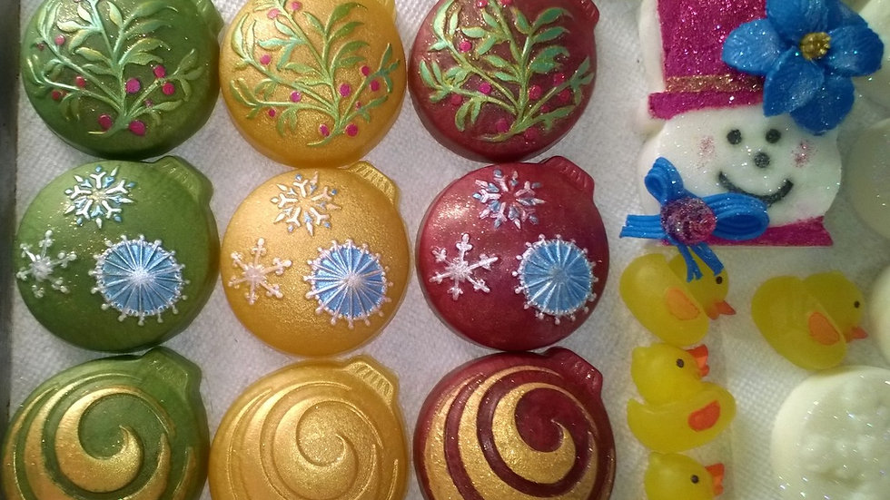Handpainted glycerin soaps in your choice of fragrance or color