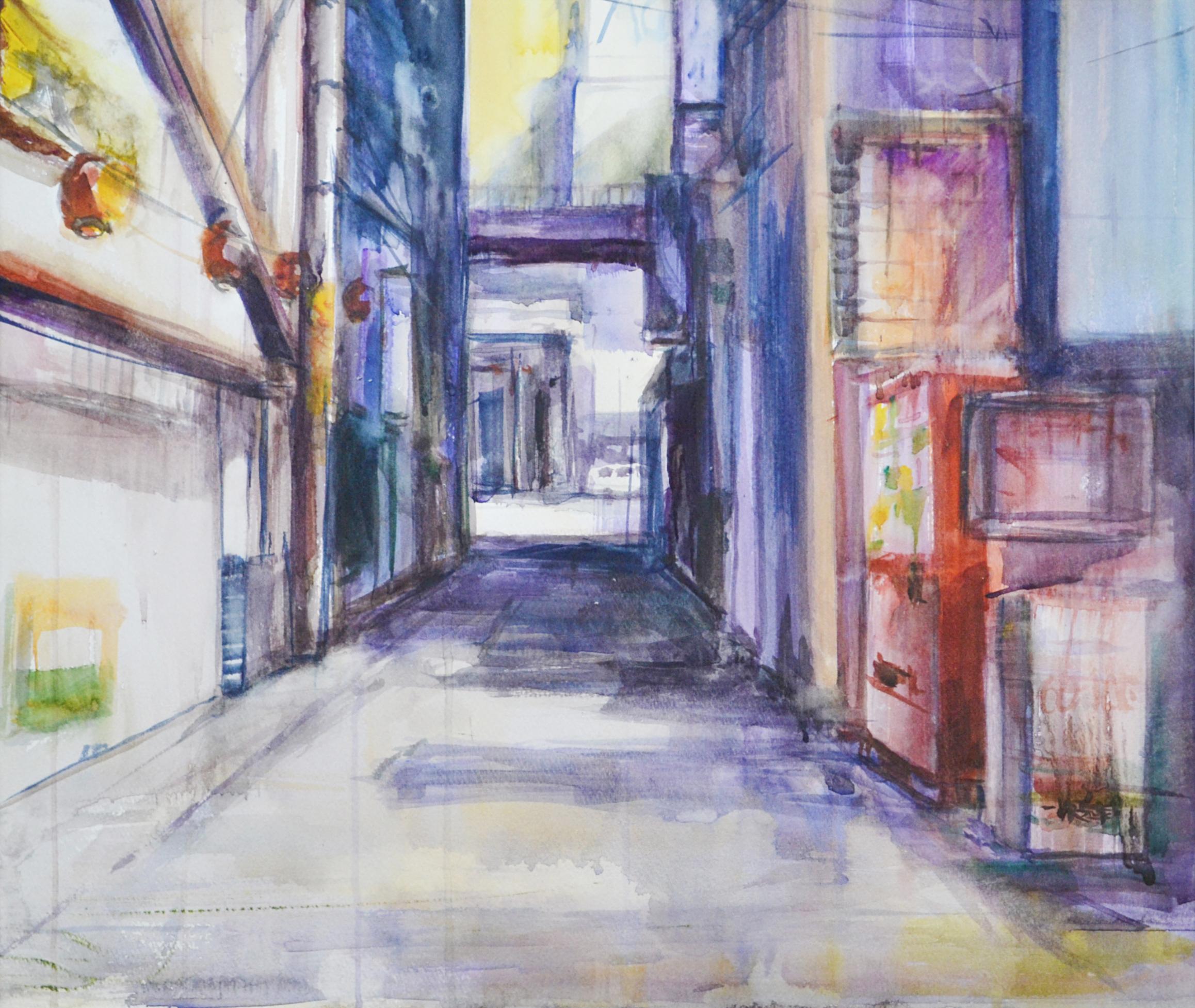 "「路地(橘通り)」""Alley, Tachibana Street"""