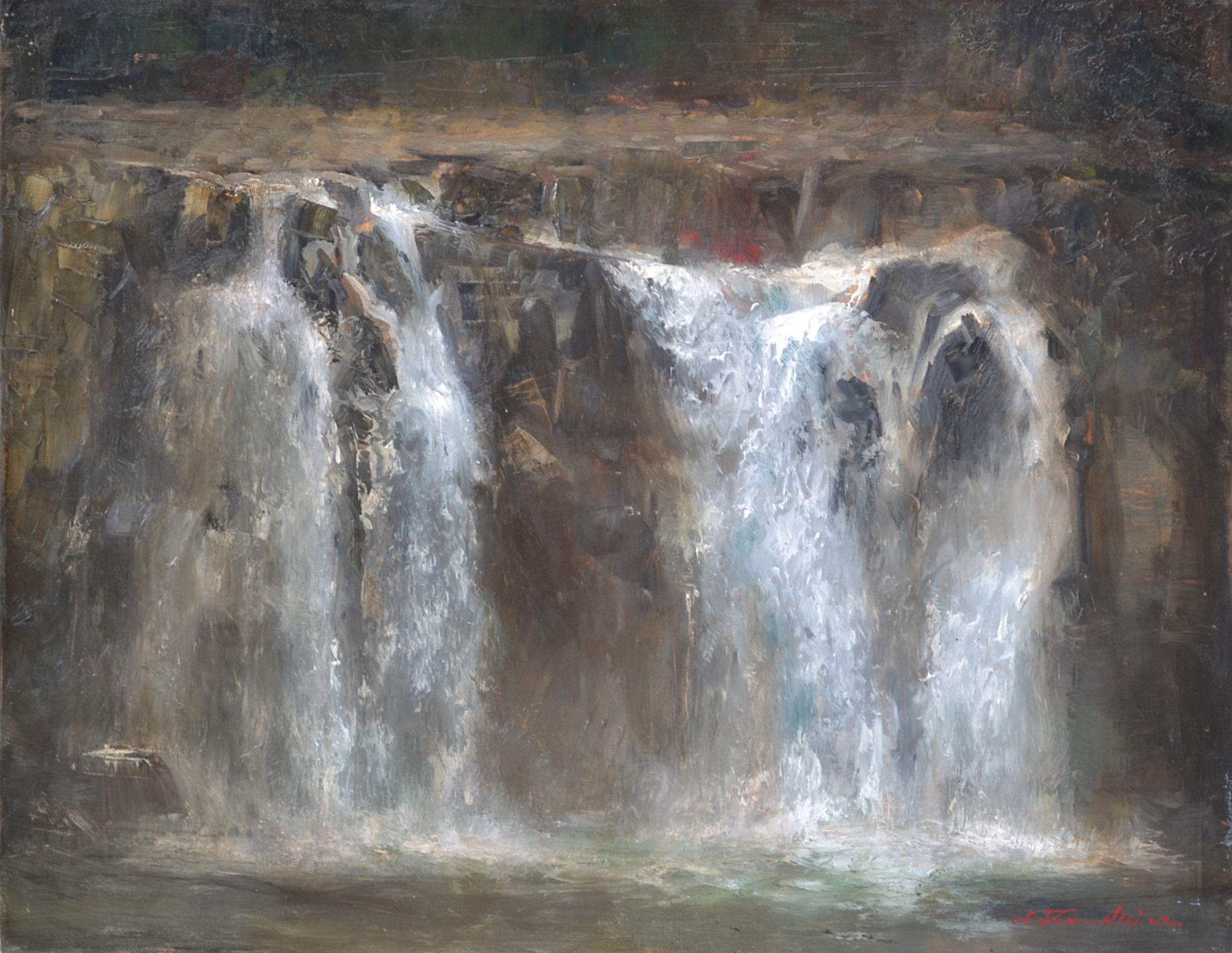 """「関之尾の滝 瀑布」 """"Sekinoo Falls"""""""