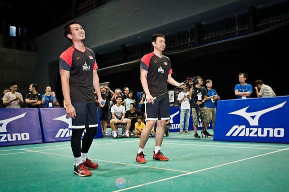 羽球表演賽 印尼男雙名將阿萬阿山在台灣