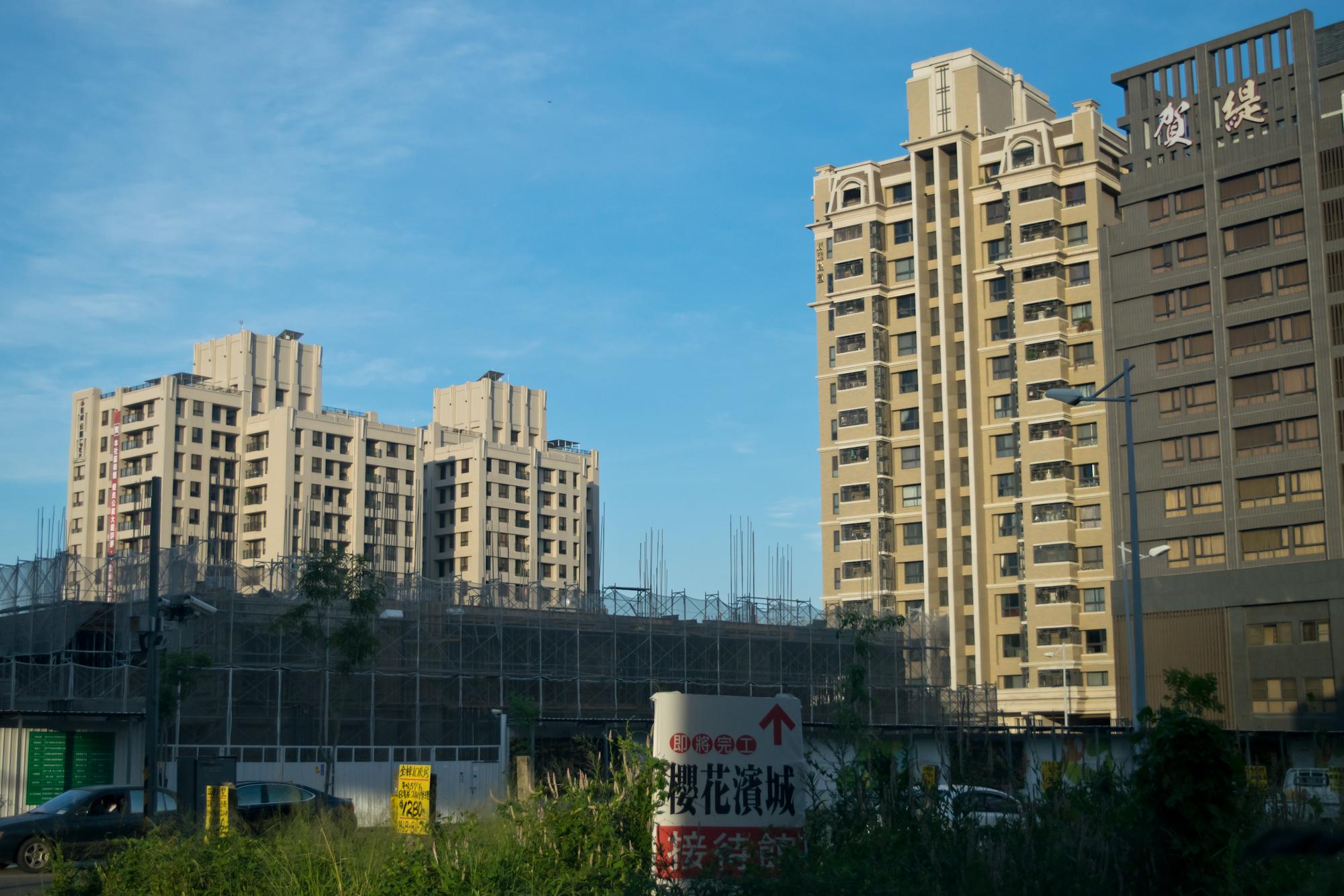 興建中的社會住宅。台中太平
