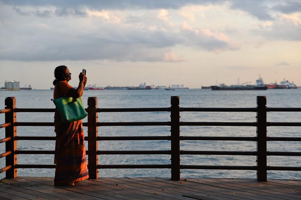 聖淘沙島的夕陽