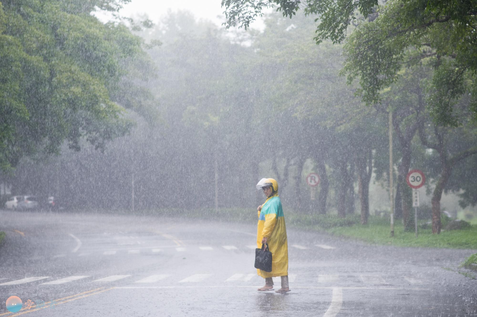 雨天的暨南大學校園。南投埔里桃米