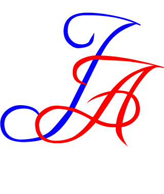Fancy Text Logo 2 - blue red