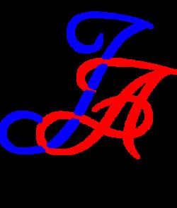 Fancy Text Logo 2 - blue red