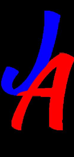 Fancy Text Logo 3 - blue red
