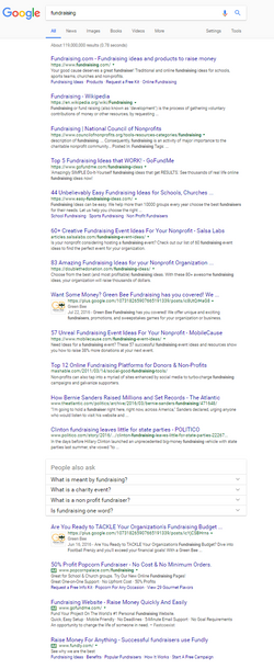 Google SEO for Fundraising Search