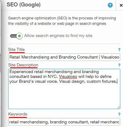Wix SEO Changes