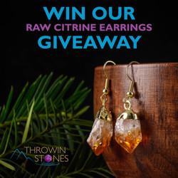 Citrine Earrings Giveaway