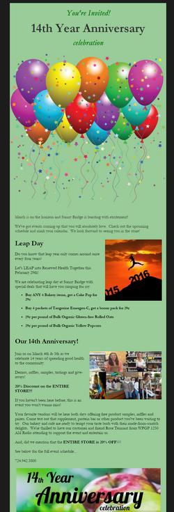 14th Anniversary Celebration