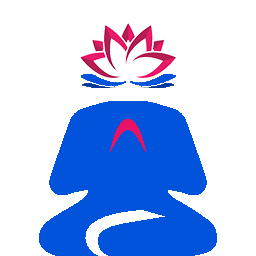 blue guru cutout lotus filled