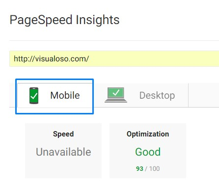 Mobile PageSpeed
