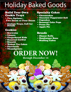 Holiday Baked Goods Sign