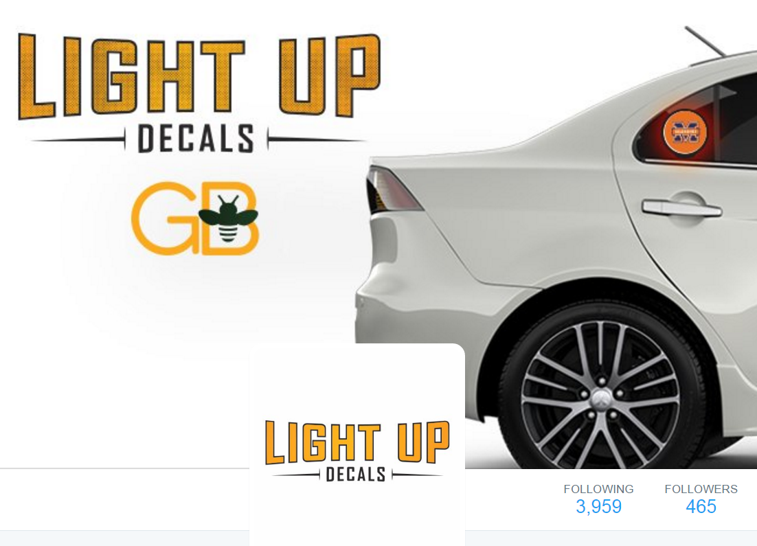 Light Up Decals Twitter