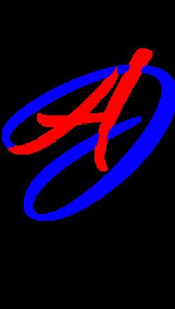 Fancy Text Logo 4 - blue red