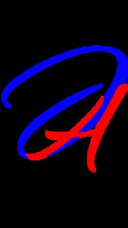 Fancy Text Logo 5 - blue red