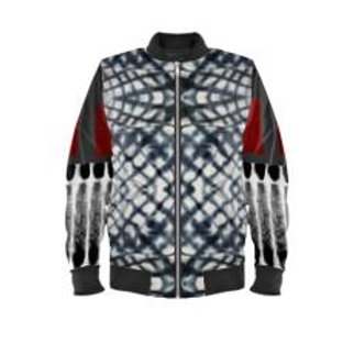Eagle Feathers in Crystal Waters Bomber Jacket