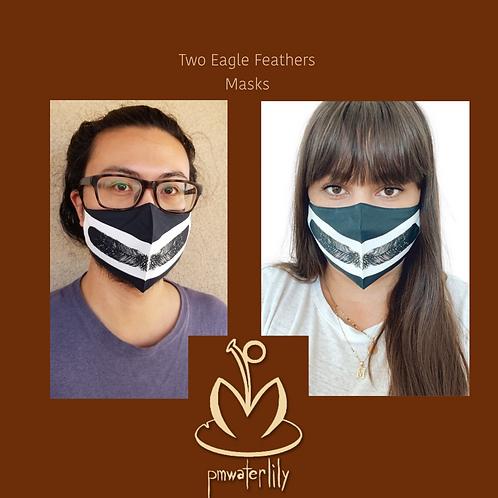 2 Eagle Feathers