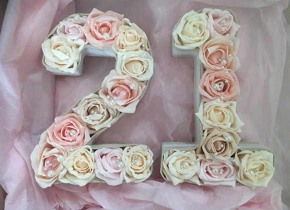 Floral Milestone Number Set