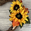 Thumbnail: Autumnal Wicker Heart Door Wreath with Sunflowers