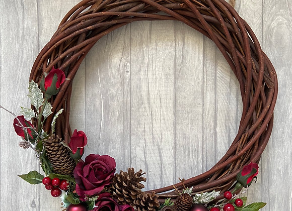 Extra Large Wicker Christmas Door Wreath