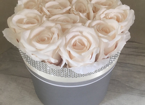 Secret Storage Rose Box - Cream & Grey