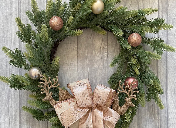 Christmas Door Wreath - Rose Gold