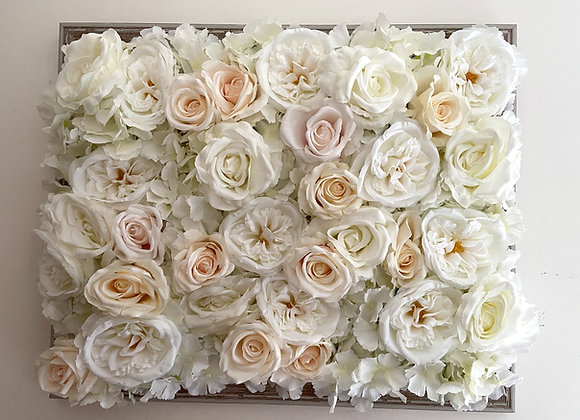 Hydrangea & Rose Flower Wall Panel