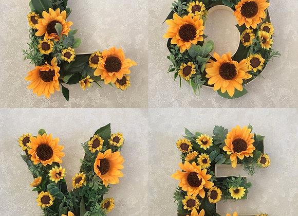Sunflower LOVE Letters
