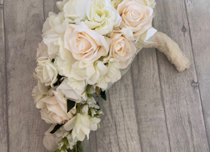 Ivory and Cream Bridal Teardrop Bouquet