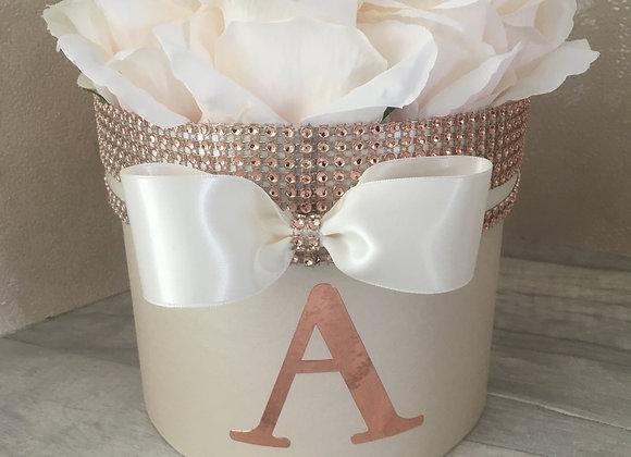 Secret Storage Rose Box in Rose Gold and Cream
