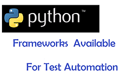 Python Test Automation Frameworks