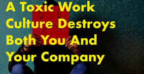 How to handle toxic work culture?