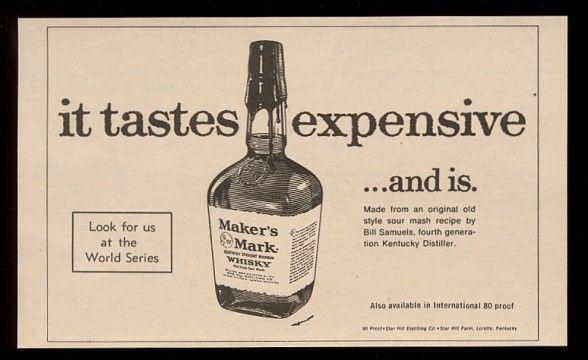 Ancienne publicité de Maker's Mark