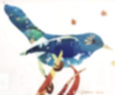 A Blue Bird's Collage