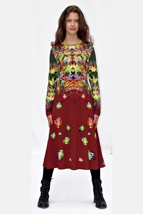 buntes Jerseykleid mit eigenem Stoffdruck ADENA_89