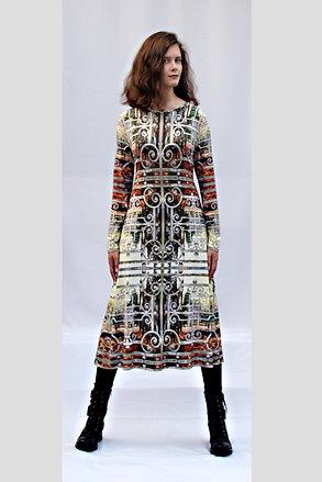 buntes Jerseykleid mit eigenem Stoffdruck HAYNOKII_91