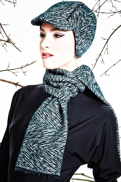 dunkelgrüner Schal