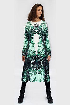 grün-weißes Jerseykleid mit eigenem Stoffdruck ROXANI_26