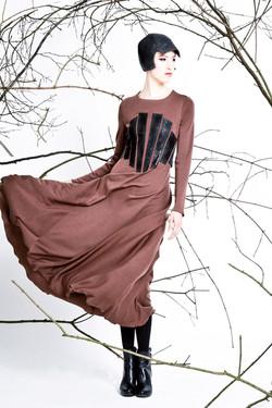 Kleid mit Corsagenapplikation