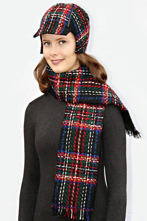 buntkarierter Schal
