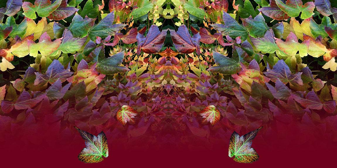 bordeaux-buntes Jerseykleid ADENA mit künstlerischem Stoffdruck