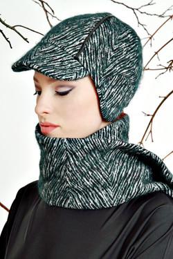 Rundkappe mit passendem Schal